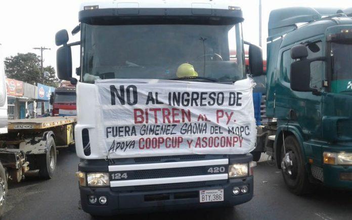Resultado de imagen para camioneros protestan contra bitrenes